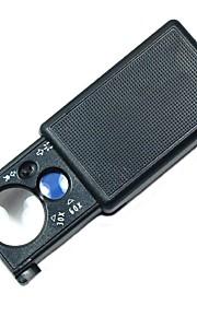 30x / 60x MP tilbagetrækningen typen lup med hvidt LED lys og lilla valuta afsløring lys