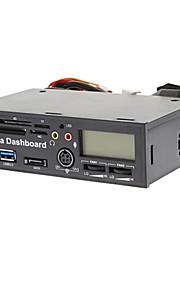 5.25 interne USB3.0 Host + USB 2.0 Card Reader + SATA + LCD 2 FANS