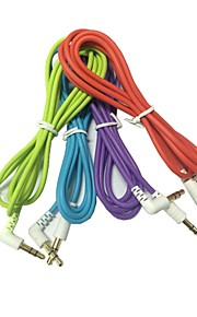 1.2M 4FT 90 Degree 3.5mm Male to Male AUX Audio Cable for iPhone iPod MP3 MP4