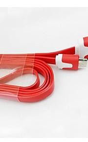 1m v8 micro usb noodle data kabel voor Samsung Galaxy S5 / S4 / S3 / s2 en htc / nokia / sony / lg (diverse kleuren)