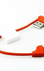サムスンや他の携帯電話(アソートカラー)用のキーチェーンスタイルポータブルマイクロusbデータケーブル