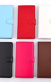 용 노키아 케이스 케이스 커버 카드 홀더 지갑 스탠드 풀 바디 케이스 한 색상 하드 인조 가죽 용 Nokia Nokia Lumia 520