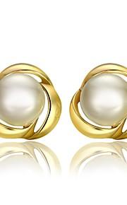 Damskie Kolczyki na sztyft Z pudełkiem Pearl imitacja Modny Słodkie Stop Kwiat Biżuteria Ślub Codzienny Biżuteria kostiumowa