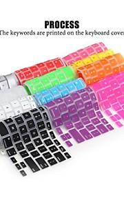 lention durable clavier en silicone peau de couverture souple pour ordinateur portable apple macbook air macbook pro 13/15/17 (couleurs