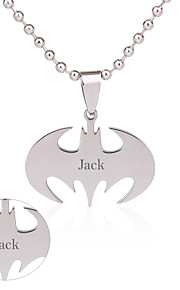 Personalized Jewelry Stainless Steel  Silver Anchor Necklace