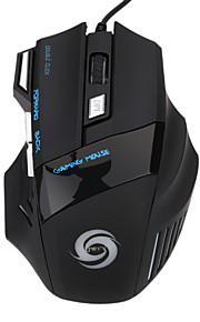 Wired USB Gaming Mouse Optisch 7pcs Schlüssel Led Atemlicht 5 einstellbare DPI-Stufen 1200/1600/2400/3200/5500dpi