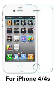 beittal® 0.26mm avrundet kant gjennomsiktig 9h herdet glass membran skjermbeskytter for iPhone 4 / 4S