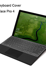 xskn εξαιρετικά λεπτή διάφανη επιδερμίδα πληκτρολόγιο TPU δέρματος διαφανές πληκτρολόγιο για το Microsoft Surface Pro 4, μας διάταξης