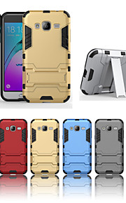 fodral Till Samsung Galaxy Samsung Galaxy-fodral Stötsäker med stativ Skal Rustning Hårt PC för J7 (2016) J7 J5 (2016) J5 J3 (2016) J3