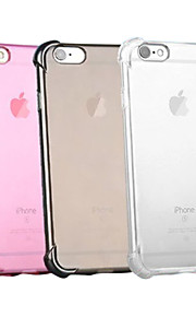 Kılıf Na Apple iPhone X iPhone 8 iPhone 6 iPhone 6 Plus iPhone 7 Plus iPhone 7 Odporne na wstrząsy Przezroczyste Czarne etui Solid Color