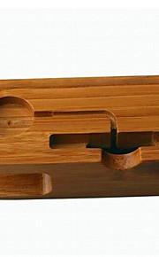 telefonhållare monteringsbord andra trä för mobiltelefon apple klockhållare& hållare
