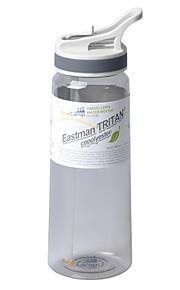 Environmental Outdoor Travel Water Bottle -Gray Blue Green  (800mL)