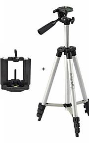 ismartdigi i-3110 + mobilt stativ 4-sektion kamera stativ (sølv + sort) for alle dv.camera og mobil: samsung iphone sony