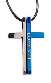 elsker dig enkle kors par halskæde vedhæng halskæde titanium bibel