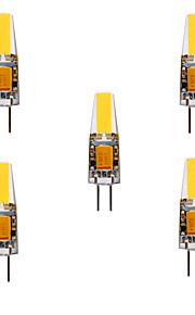 YWXLIGHT® 5pcs 5W 460lm G4 LED-lampor med G-sockel MR11 4 LED-pärlor COB Vattentät Dekorativ Varmvit Kallvit Naturlig vit 24V 12V