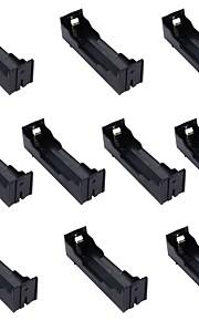 10st enkele batterij box 18.650 pin diy lithiumbatterij zetel geïnstalleerd 1 18650 batterij plaat