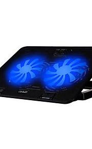 2 Fans ergonomisch verstellbare Kühler mit Ständer Halter für Laptop Notebook Cooling Pad (keine Drehzahl controll)