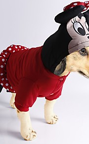 Dog Costume Coat Jumpsuit Dog Clothes Cartoon Black Red Cotton Costume For Pets Men's Women's Cute Casual/Daily Cosplay Fashion Halloween