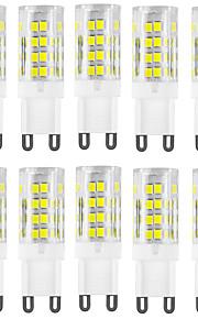 HKV 10pcs 4W 400-500lm G9 LED à Double Broches T 51 Perles LED SMD 2835 Imperméable Décorative Blanc Chaud Blanc Froid 220-240V