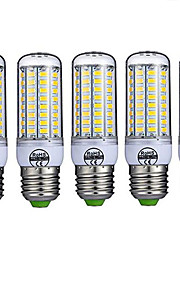 5pcs 10 W 980 lm E26 / E27 LED Λάμπες Καλαμπόκι T 72 LED χάντρες SMD 5730 Διακοσμητικό Θερμό Λευκό Ψυχρό Λευκό 220-240 V / 5 τμχ / RoHs