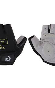 Luvas Esportivas Luvas de Ciclismo Anti-desgaste Anti-derrapagem Protecção Antibacteriano Leve Sem Dedo Elastano Pele Fibra de Algodão Gel
