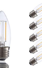 2W E26/E27 LED-glødepærer B 2 COB 200 lm Varm hvit kan dempes V 6 stk.