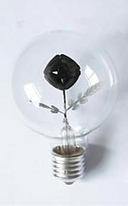 G80 Edison Flame Bulb Rose 3W Night Light Decorative Lamp