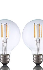 E26 LED-glødepærer G80 4 leds COB Mulighet for demping Varm hvit 350lm 2700K AC 110-130V