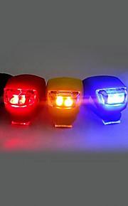 פנס קדמי לאופניים / פנס אחורי לאופניים / אור סיליקון אור LED פנסי אופניים רכיבת אופניים תופסן, גודל קטן, כיס סוללות לטלפונים סלולריים סוללה רכיבה על אופניים / רב שימושי / IPX-4