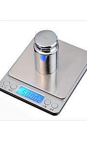 Kitchen jewelry scale Kitchen scale baking Large tray I2000 pocket said