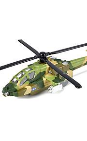 비행기 및 헬리콥터 푸시 & 당겨 장난감 1:10 메탈 그린