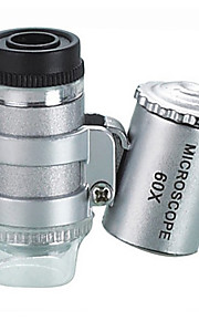 60X Mikroskoper Smykker Identifikation Legetøj Mini Multifunktion Høj kvalitet Metal Kreativ Glamourøs & Dramatisk 1 Stk. Barnets Dag Gave
