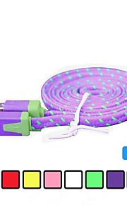 サムスンや他の携帯電話(アソートカラー)用1メートルV8マイクロUSB強力ナイロン麺データケーブル
