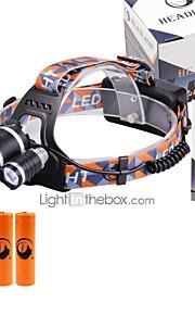 U'King Lanternas de Cabeça Farol Dianteiro LED 6000 lm 3 4.0 Modo Cree XM-L T6 Foco Ajustável Tamanho Compacto Fácil de Transportar