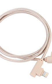 Lightning USB 3.0 Kabel Opladerkabel Opladerledning Data & Synkronisering Flettet Kabel Til Apple iPhone iPad 100 cm Nylon