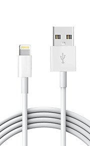 USB 2.0 Verlichting USB kabeladapter Data & Synchronisatie Koord Oplaadkabel Oplaadkoord Normaal Kabel Voor iPad Apple iPhone 200 cm TPE