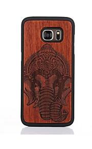 Custodia Per Samsung Galaxy S7 edge S7 Fantasia/disegno Custodia posteriore Elefante Resistente Legno per S7 edge S7