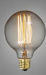 E27 40W G80 Straight Wire Restaurant Hotel Ball Edison Retro Decorative Light Bulb