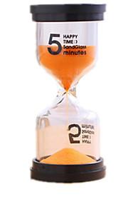 Timeglas Legetøj Cylinder-formet Glas Plast Unisex Stk.