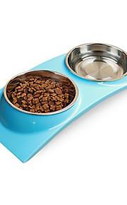 L Кошка Собака Миски и бутылки с водой Животные Чаши и откорма Водонепроницаемость Зеленый Синий Розовый