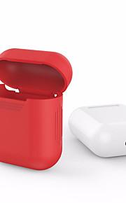 For eple luftputer airpods silikon gjennomsiktig veske beskyttende deksel pose anti tapt protector elegant ermet