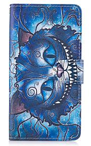 Caso per la grande copertura su7 (2016) della galassia di samsung la cassa di cuoio dell'unità di elaborazione del gatto blu per il on5