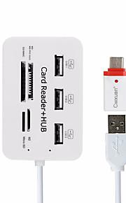 Cwxuan 7 USB Hub USB 2.0 USB 2.0 Med Kortlæser (e) OTG Data Hub
