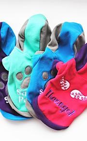 Katze Hund Mäntel T-shirt Pullover Kapuzenshirts Hundekleidung Buchstabe & Nummer Purpur Rose Grün Blau Polar-Fleece Kostüm Für Haustiere