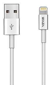 Cable de iluminación waza mfi para cable de cargador iphone x (3 pies) para iPhone 8/8 plus / 7/7 plus / 6/6 plus / 5s