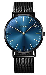 Men's Fashion Watch Wrist watch Quartz Stainless Steel Band Casual Minimalist Black