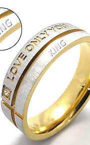 Love only you Amazon hot titanium Couples ring blue titanium letter ring Aliexpress