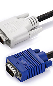 VGA Adapter Cable, VGA to DVI Adapter Cable Male - Male Nickel-plated steel 1.5m(5Ft)