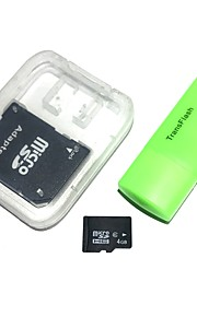 4gb microsdhc tf hukommelseskort med usb kortlæser og sdhc sd adapter