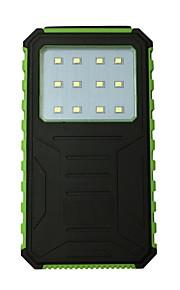 12000 mAh Voor Power Bank externe batterij 5 V Voor Voor Oplader waterdicht / Zaklamp / Zonne-energielader LED
